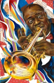 Louis Armstrong Collage