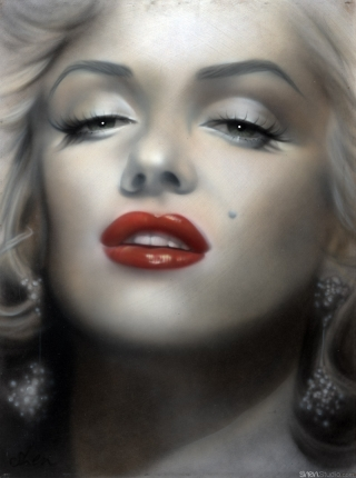 Marilyn Monroe Red Lips